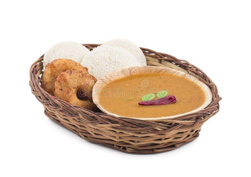 Södra indisk mat för Idli vada arkivbilder