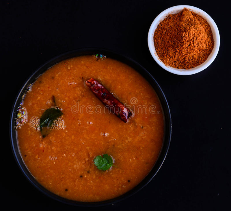Södra indisk soppa arkivbild