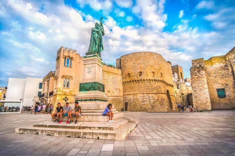 Södra Italien by av Otranto i Apulia - Salento arkivbilder