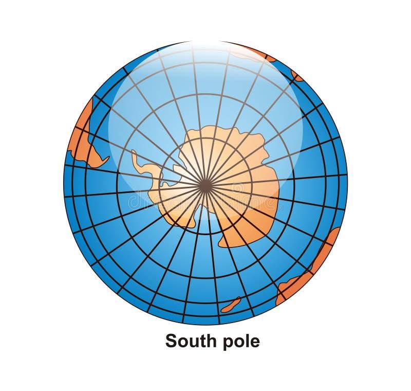 södra jordklotpol vektor illustrationer
