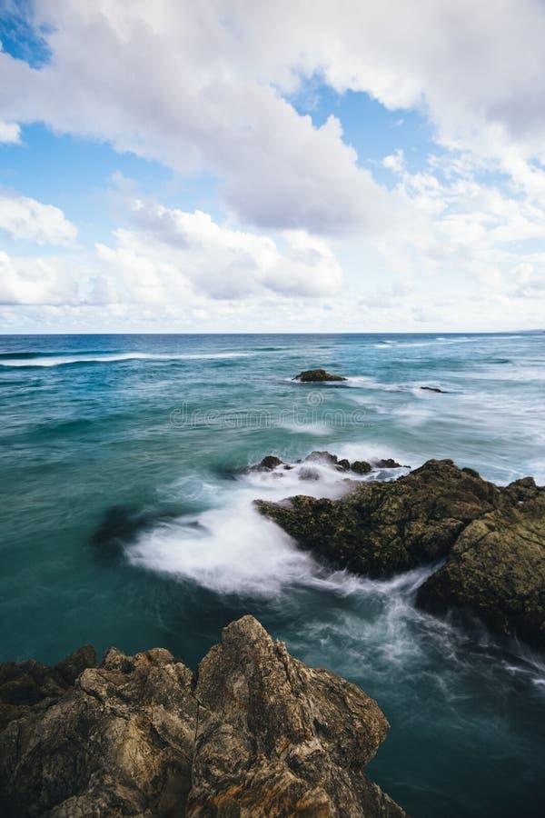 Södra klyfta på den Stradbroke ön, Queensland royaltyfri fotografi