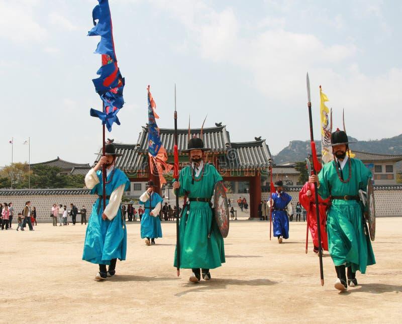södra nationell slott för gyeonbokgungkorea museum fotografering för bildbyråer