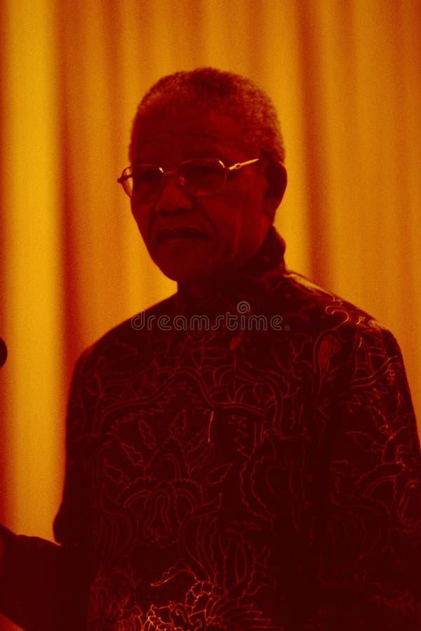 Södra Nobelprice-vinnare och gamla - afrikansk president Nelson Mandela royaltyfri bild
