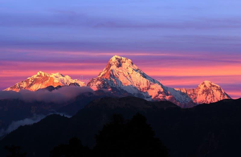 Södra panorama av monteringen Annapurna, Nepal fotografering för bildbyråer
