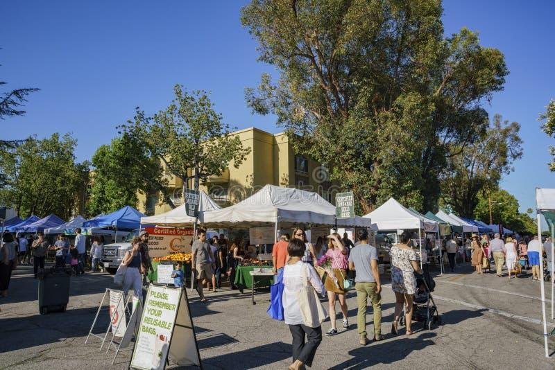 Södra Pasadena bondes marknad royaltyfria foton