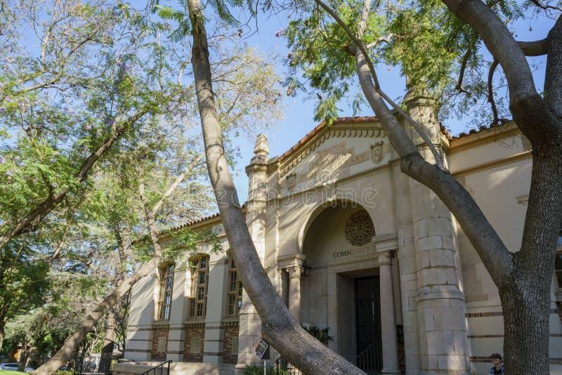 Södra Pasadena offentligt bibliotek royaltyfria bilder