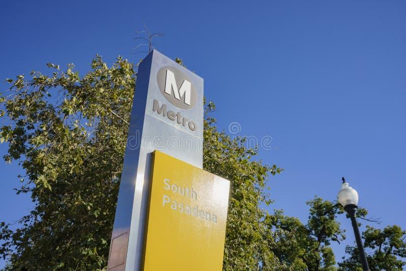 Södra Pasadena tunnelbanastation arkivfoto