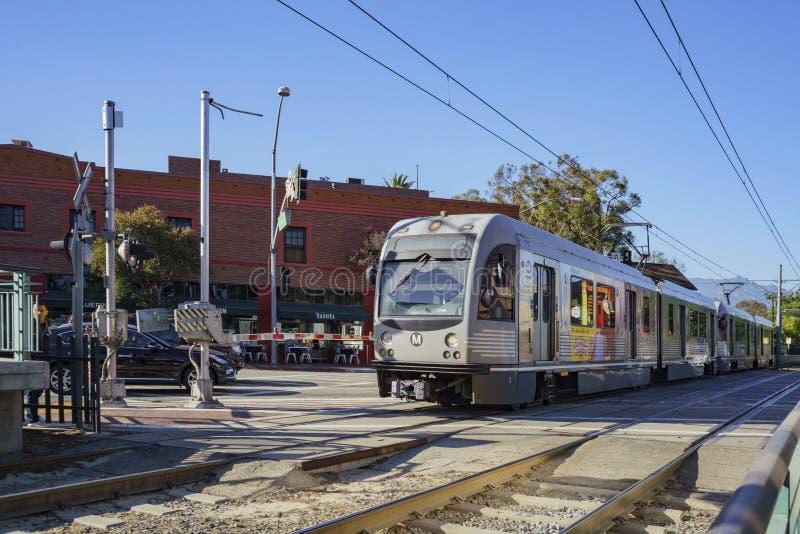 Södra Pasadena tunnelbanastation royaltyfri fotografi
