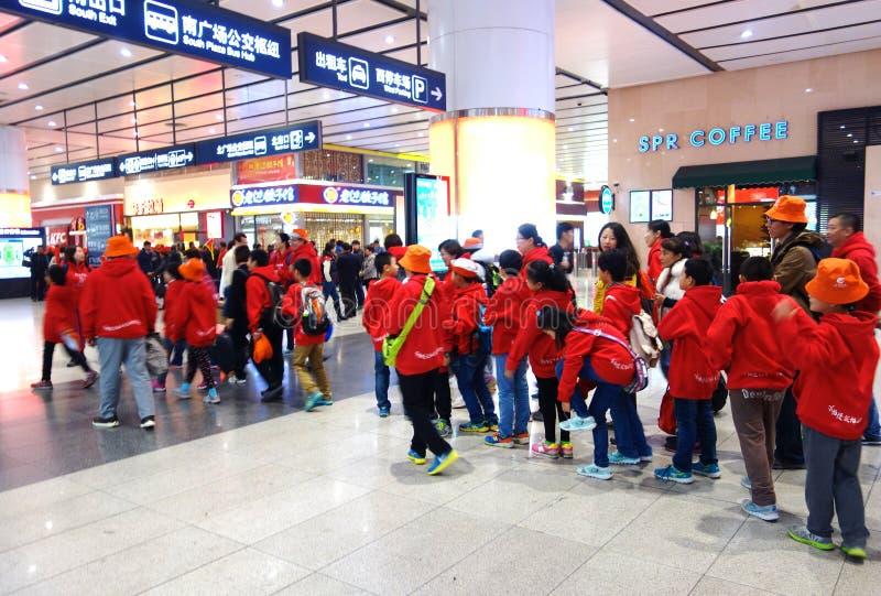Södra Pekingjärnvägsstation arkivbilder