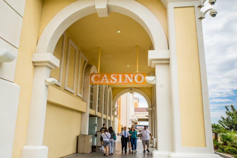 Södra punkthotell och kasino royaltyfri fotografi