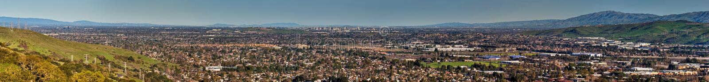 Södra San Francisco Bay panorama arkivbild