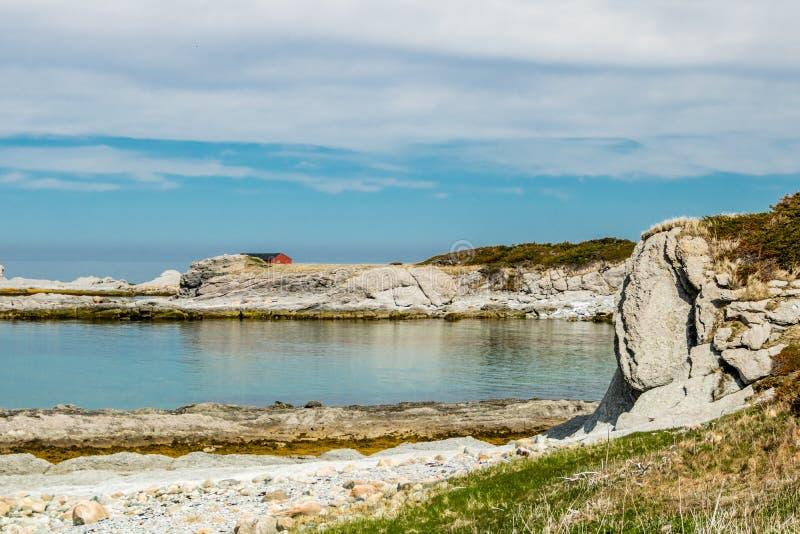 Södra sida av kvastpunkt, Gros, Morne, Newfoundland, Kanada royaltyfri bild