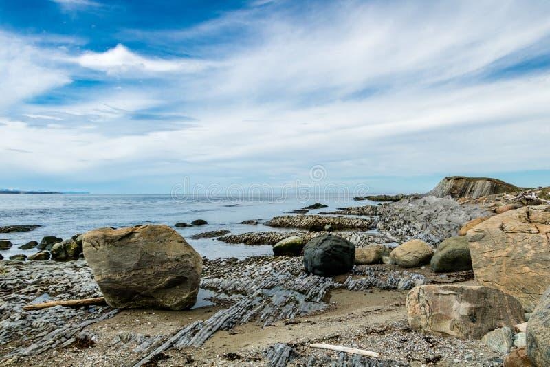 Södra sida av kvastpunkt, Gros, Morne, Newfoundland, Kanada fotografering för bildbyråer