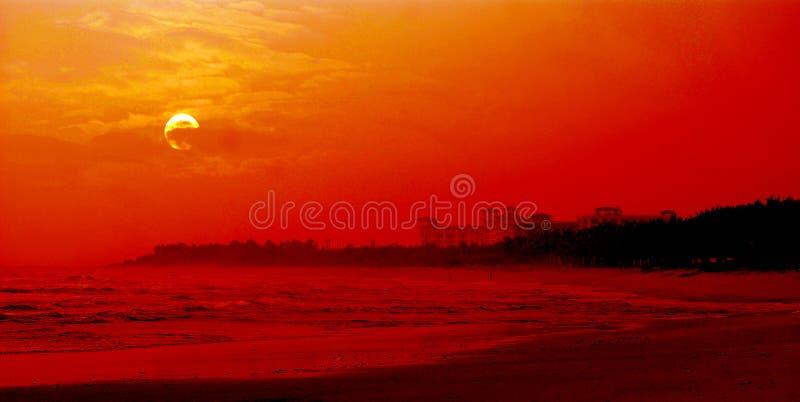 södra soluppgång för porslinhav royaltyfria bilder