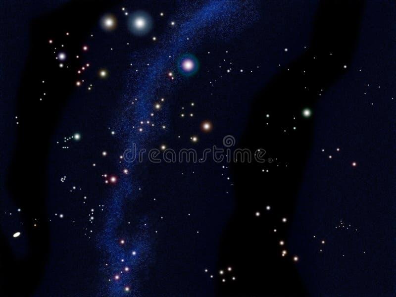 södra stjärna för diagramsky stock illustrationer