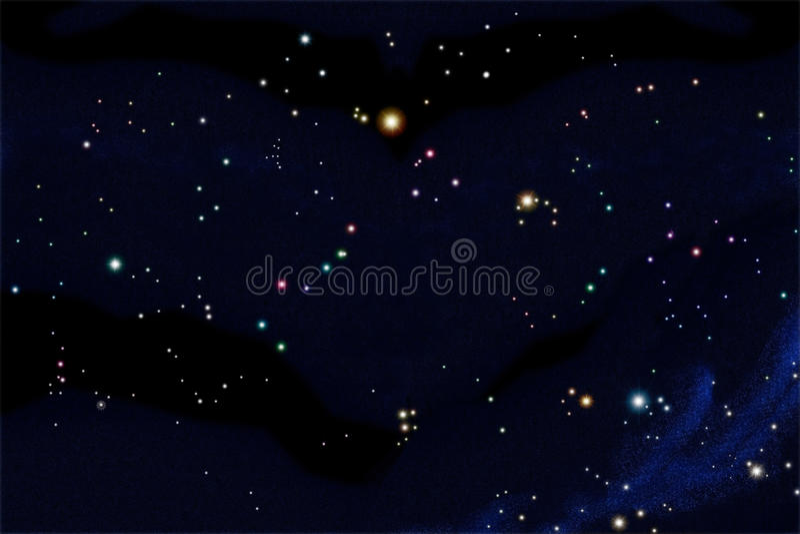 södra stjärna för diagramsky vektor illustrationer