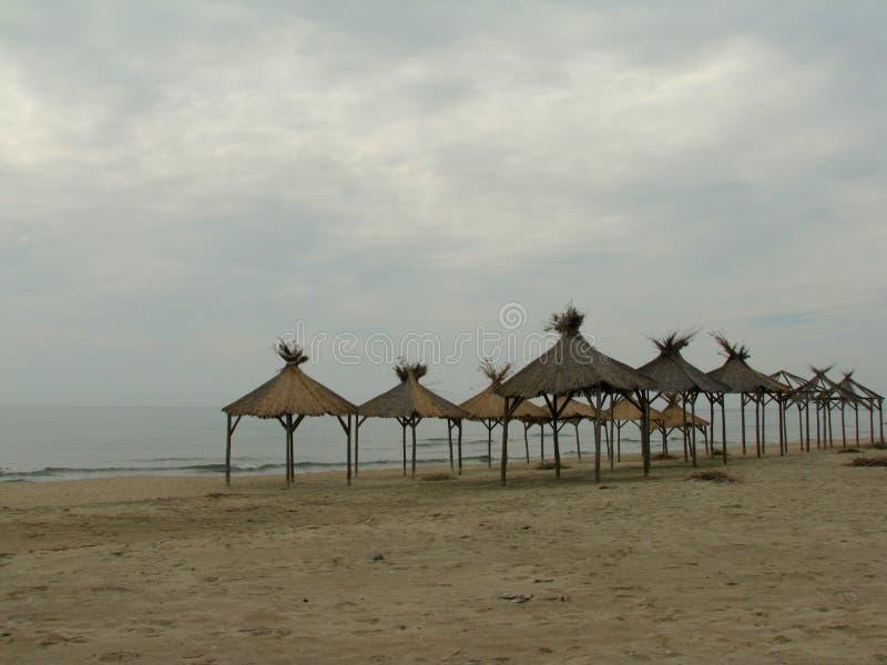 Södra strand av Nessebar under våren royaltyfria foton
