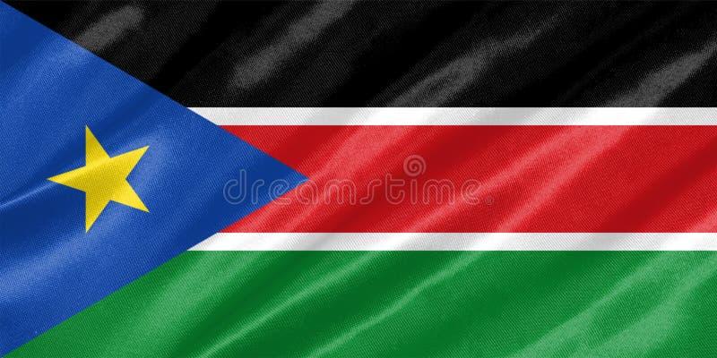 Södra Sudan flagga royaltyfri bild
