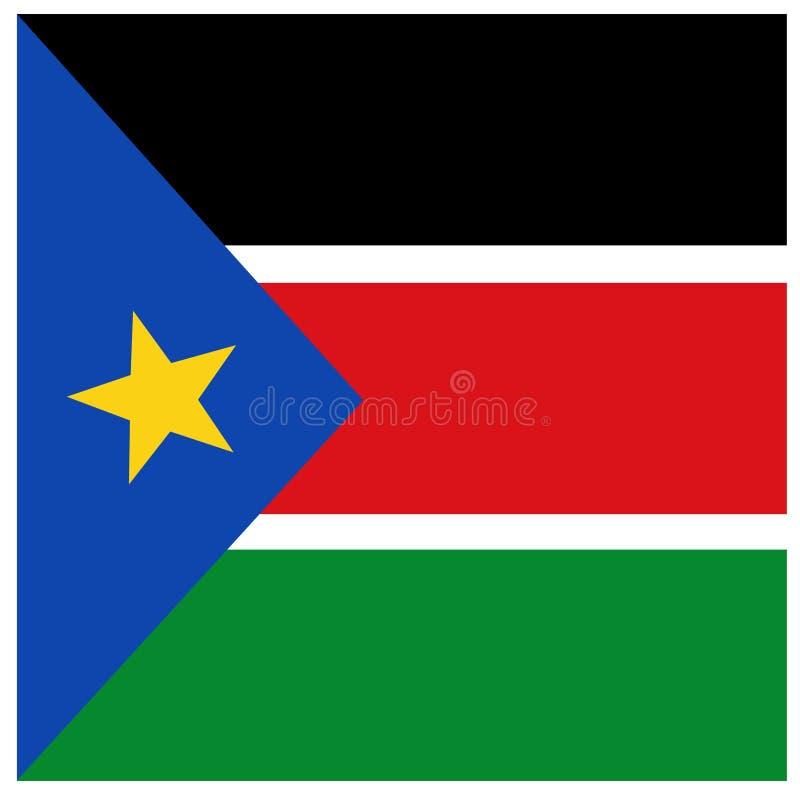Södra Sudan flagga - republik av södra Sudan royaltyfri illustrationer