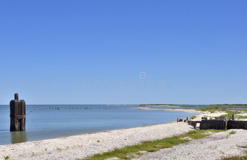 Södra Texas Seascape arkivbild