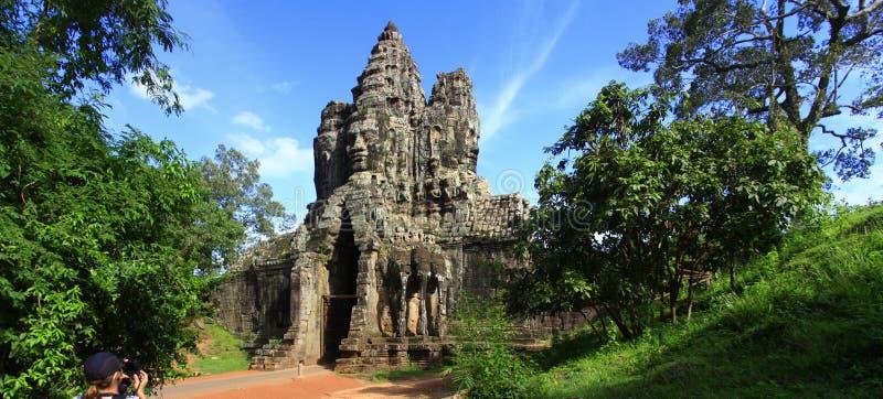 södra thom för angkorcambodia port royaltyfri fotografi