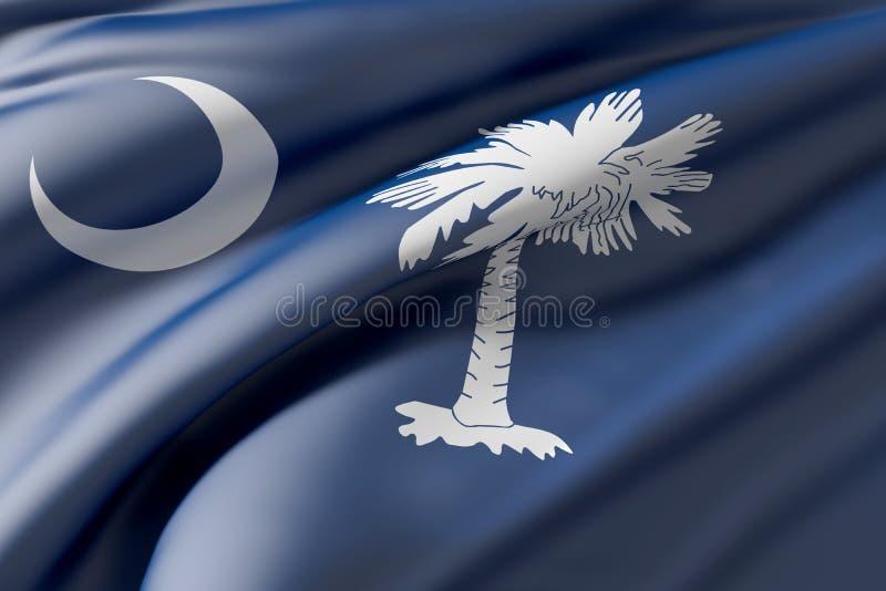 södra tillstånd för carolina flagga vektor illustrationer