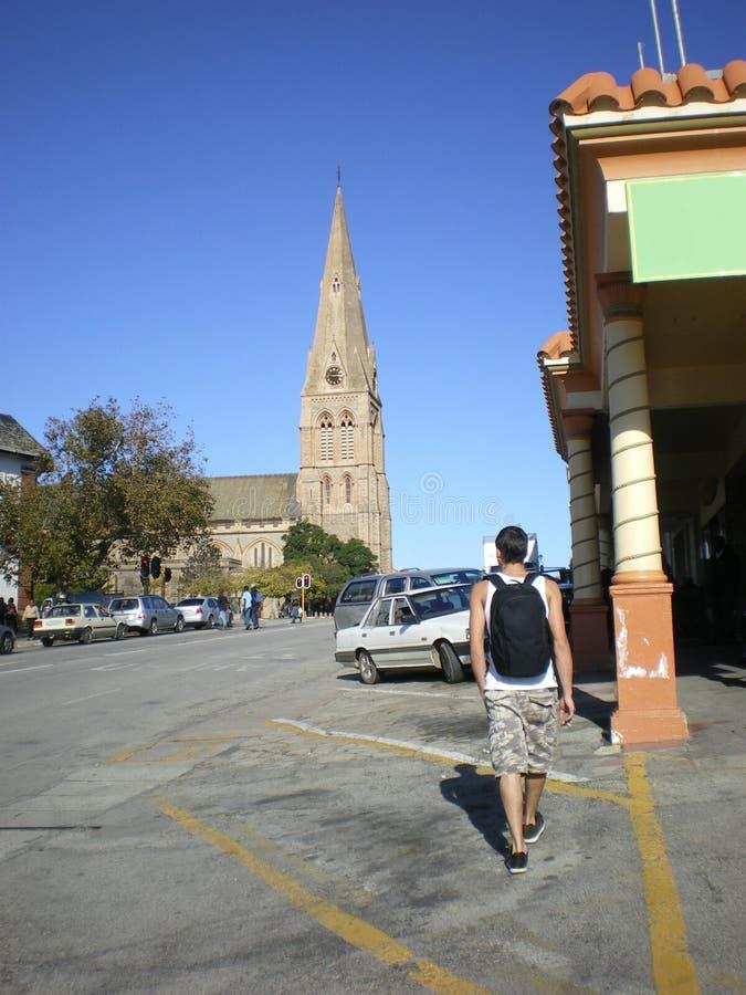 södra turist för africa grahamstown arkivbilder