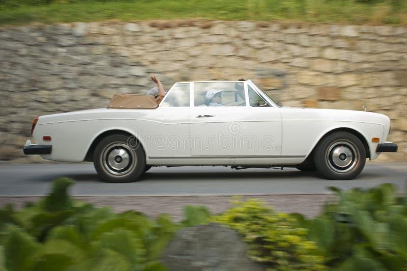 Södra tyrol klassisk cars_ROLLS-ROYCE Corniche royaltyfria bilder