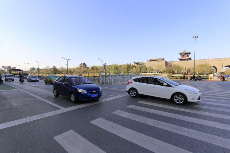 Södra väg för cirkel av den xian staden arkivbild