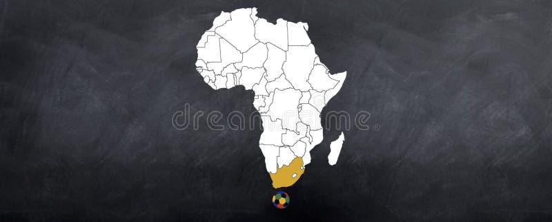 södra värld för afrikansk koppvärds stock illustrationer