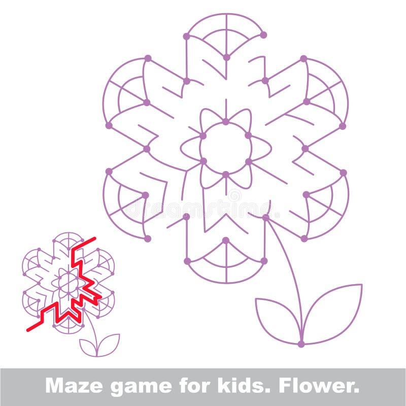 Sök vägen Lek för blommaungelabyrint stock illustrationer