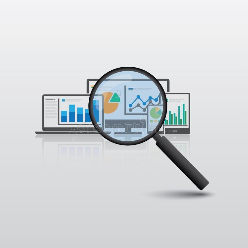 Sökande av stora data royaltyfri illustrationer