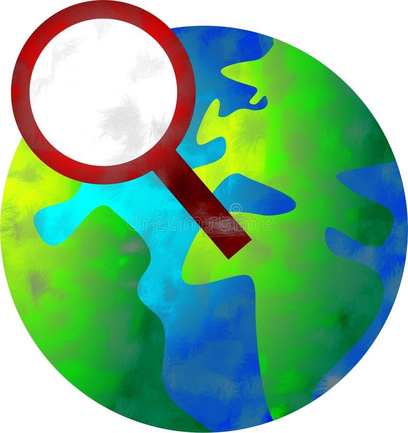 sökande av världen vektor illustrationer