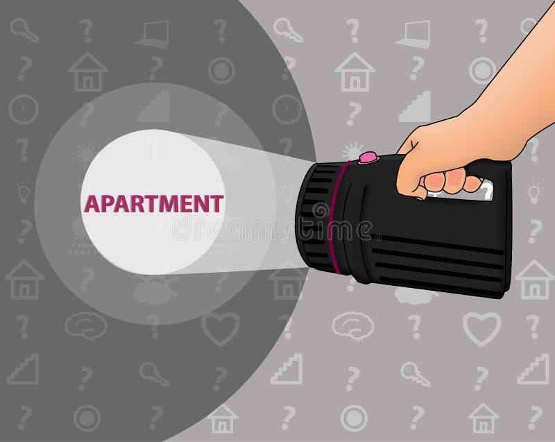 Sökande för lägenheten vektor illustrationer