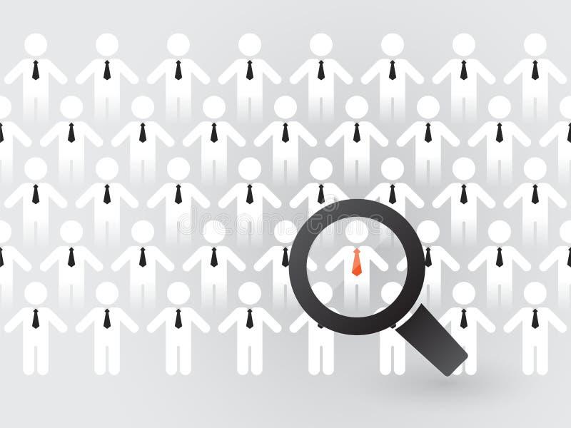 Sökande för passande anställda stock illustrationer
