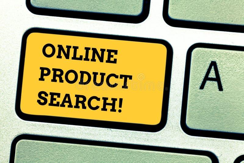 Sökande för produkt för ordhandstiltext online- Affärsidé för sökande för varor och tjänst över internet arkivfoton