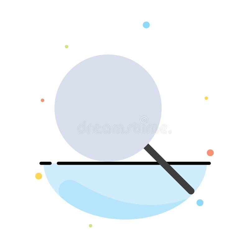 Sökande forskning som är grundläggande, mall för Ui abstrakt plan färgsymbol royaltyfri illustrationer