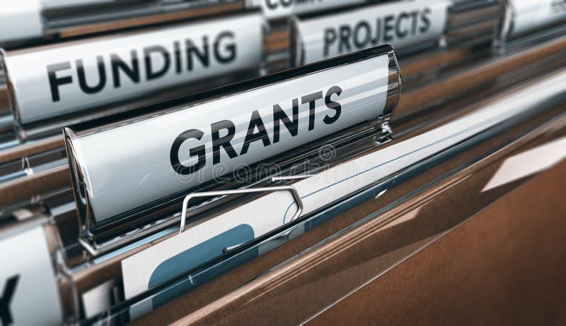 Sökande lån för en anslutning, en små och medelstora företag eller för forskning vektor illustrationer