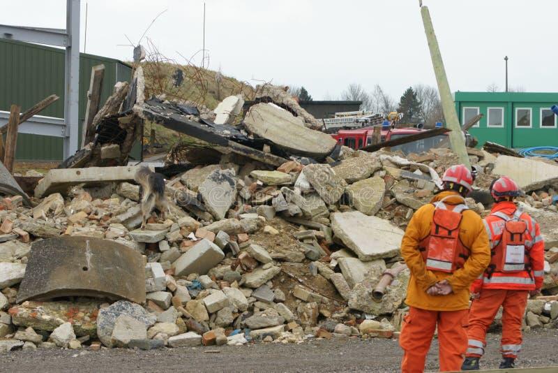 Sökande- & räddningsaktionkatastrofzon fotografering för bildbyråer