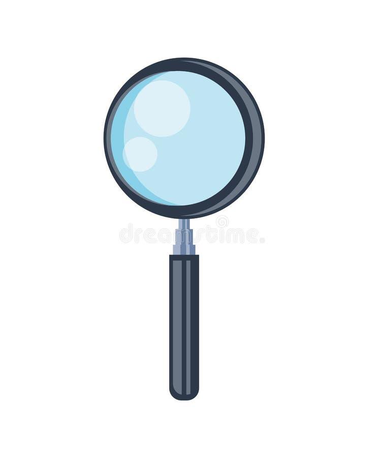 Sökandeförstoringsglassymbol stock illustrationer