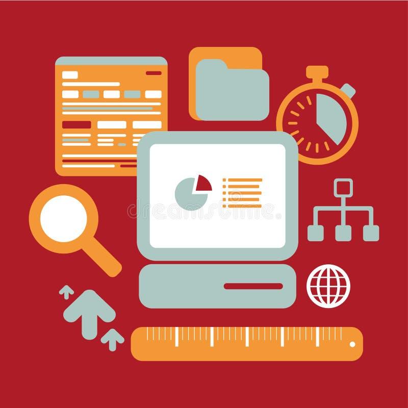 Sökandeoptimization stock illustrationer