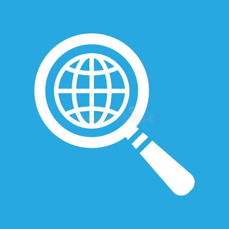 Sökandesymbol av den plana jordklotplaneten vektor illustrationer