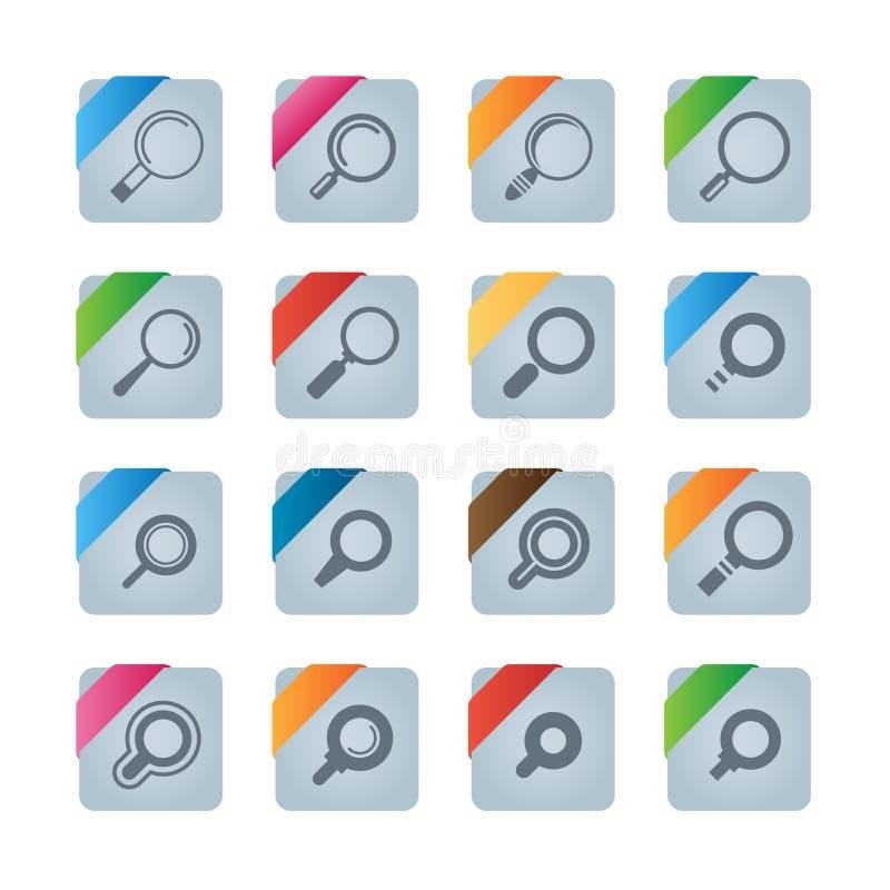 Sökandesymboler fotografering för bildbyråer