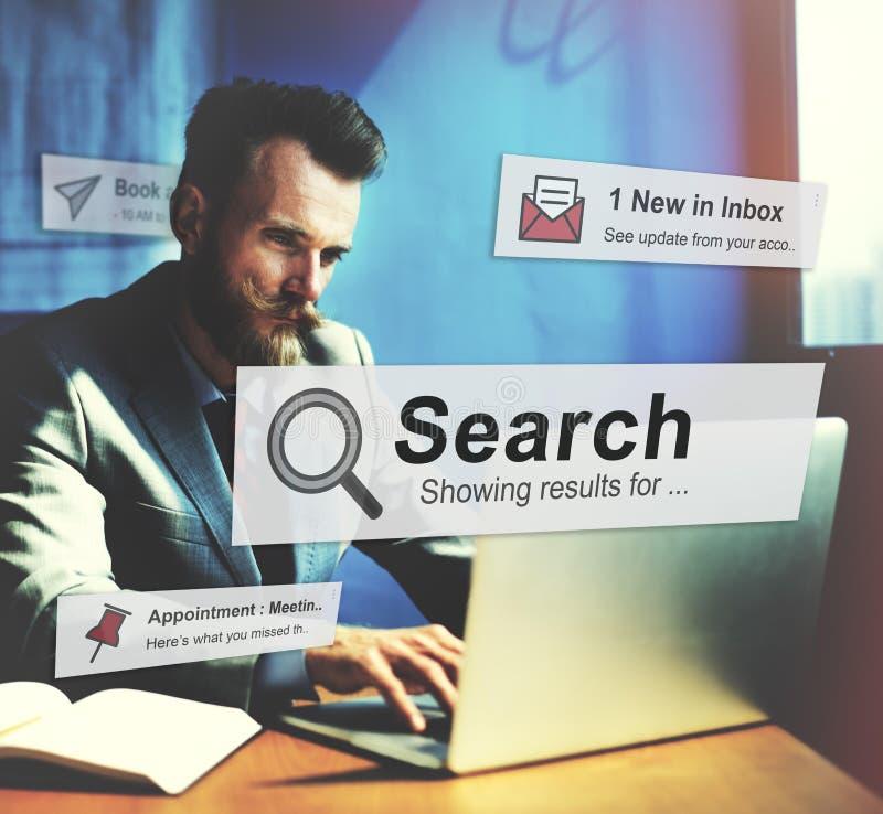 Sökandet som söker utforskning, upptäcker kontrollerar att finna begrepp fotografering för bildbyråer