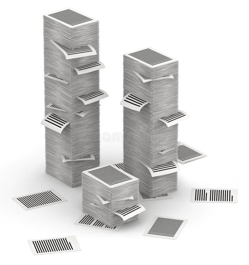 Söker isometry pappers- buntar 3d vektor illustrationer