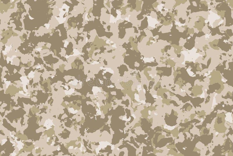 Sömlös ökenkamouflagebakgrund eller textur vektor illustrationer