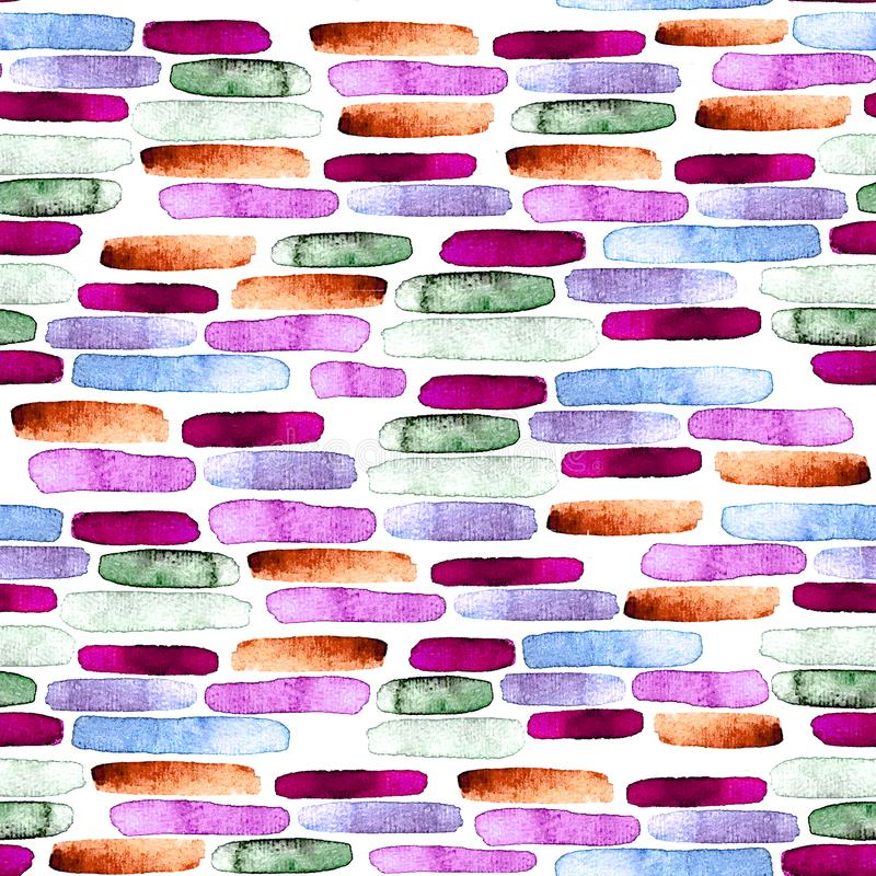 Sömlös abstrakt bakgrund, hand-målad textur, vattenfärgmålning stock illustrationer