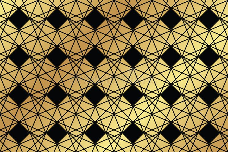 Sömlös abstrakt bakgrundsmodell som göras med trapezoidal, och romb stock illustrationer
