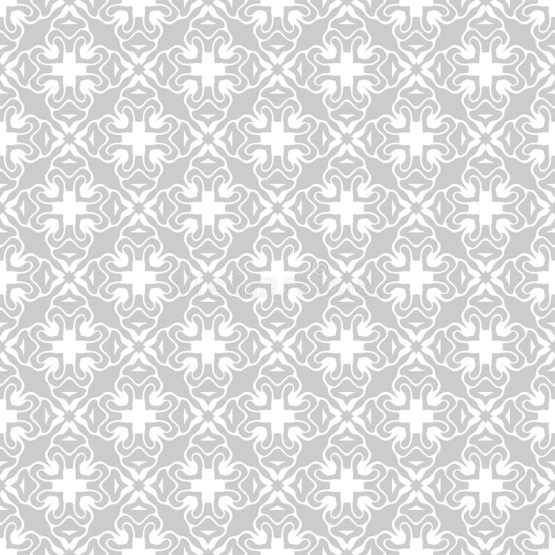 Sömlös abstrakt blom- geometrisk vektormodell stock illustrationer