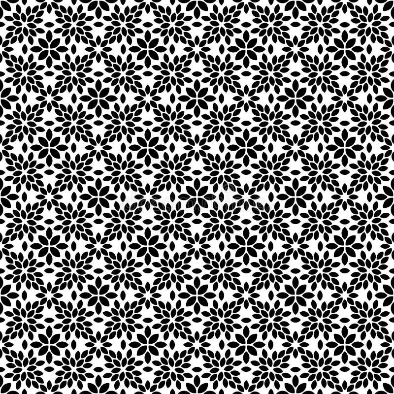 Sömlös abstrakt blom- geometrisk vektormodell vektor illustrationer